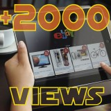 Add 2000 Ebay Views to item